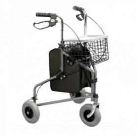 Rollator acier à 3 roues
