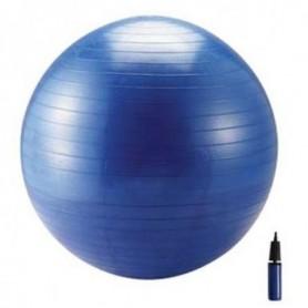 Ballon de gymnastique + pompe Ballon Bleu 75 cm avec pompe