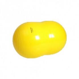 Ballon Cacahuète Physio Roll Jaune / diamètre 55cm